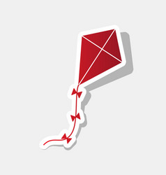 Kite sign new year reddish icon with vector