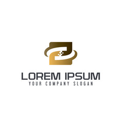 letter z tech logo design concept template vector image