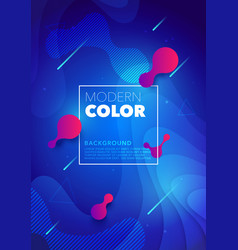 liquid color futuristic design poster background vector image