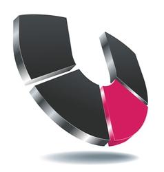 Logo u gray vector