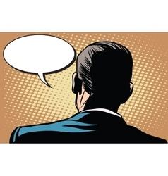 Male back comic bubble conversation communication vector image