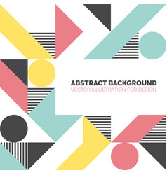 modern background with circles triangles and lines vector image