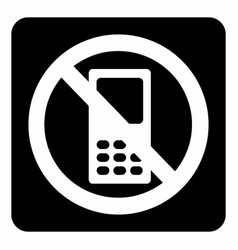 no mobile icon vector image