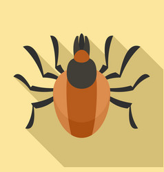 Parasite mite icon flat style vector