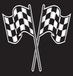racing flag dve kontrast vector image