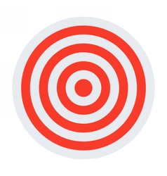 Red and white target vector image