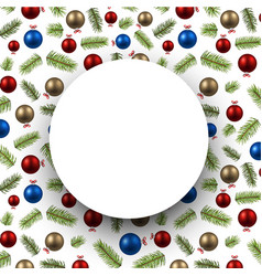 round colorful new year background vector image