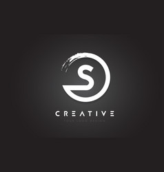 s circular letter logo with circle brush design vector image