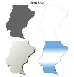 Santa cruz blank outline map set vector