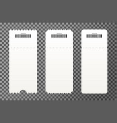 set of empty ticket templates isolated on vector image