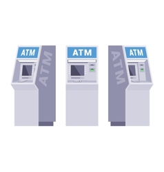 Set of the ATMs vector image