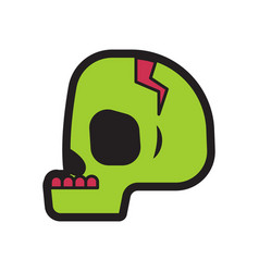Skull halloween logo icon design vector