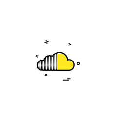 Soundcloud icon design vector