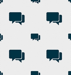 Speech bubbles icon sign Seamless pattern with vector image