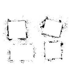 Splat ink paint border vector
