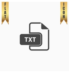 TXT text file extension icon vector image
