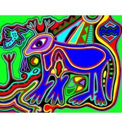 unusual Ukrainian traditional tribal art in vector image