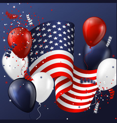 usa holiday design vector image