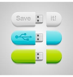 USB flash vector