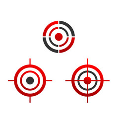 various target icons vector image