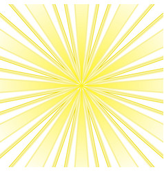 yellow rays abstract background vector image