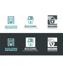 Building elements vector image