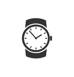 classic wristwatch icon vector image vector image