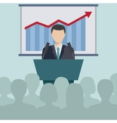 Concept for business conference and presentation vector image vector image