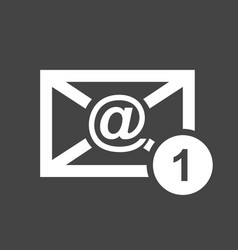 email envelope message in flat style on black vector image