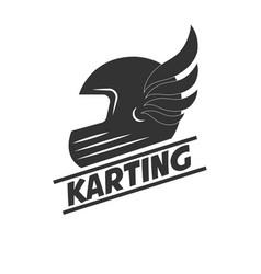 Karting club or kart races sport helmet vector