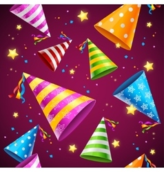 Party Hat Background Pattern vector image