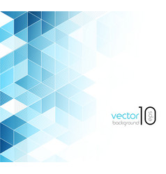 Abstract blue cubes background vector image vector image