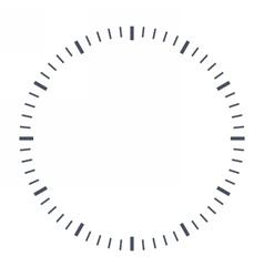 Blank clock face vector image