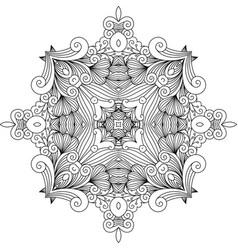 floral zentangle decorative element vector image vector image