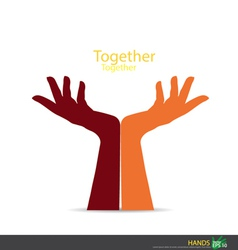 Hand holding EPS10 vector image vector image