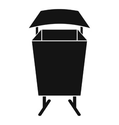 Litter waste bin icon simple style vector image vector image