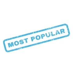 Most Popular Rubber Stamp vector image