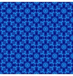 Seamless Pattern over blue vector image vector image