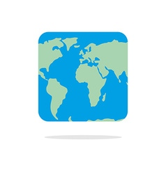 Square world map Atlas of unusual shape Square vector image vector image