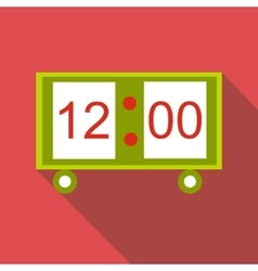 Electronic table clock icon flat style vector