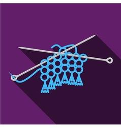 Flat icon for handmade Knitting vector image