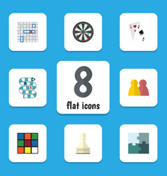 Flat icon play set of arrow people ace and other vector