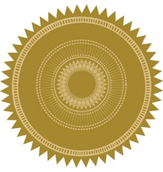 gold burst seal vector image vector image