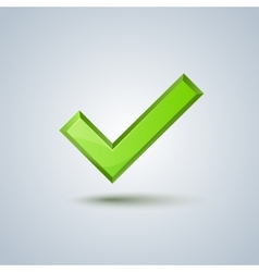 Isolated green check mark sign image vector image vector image