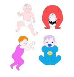 Little Children vector image vector image
