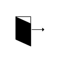 logout icon vector image