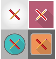 school education flat icons 01 vector image vector image