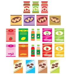 Set of packings of products vector image
