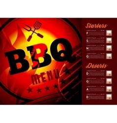 Design BBQ menu vector image vector image