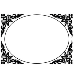 frame of thai pattern vector image vector image